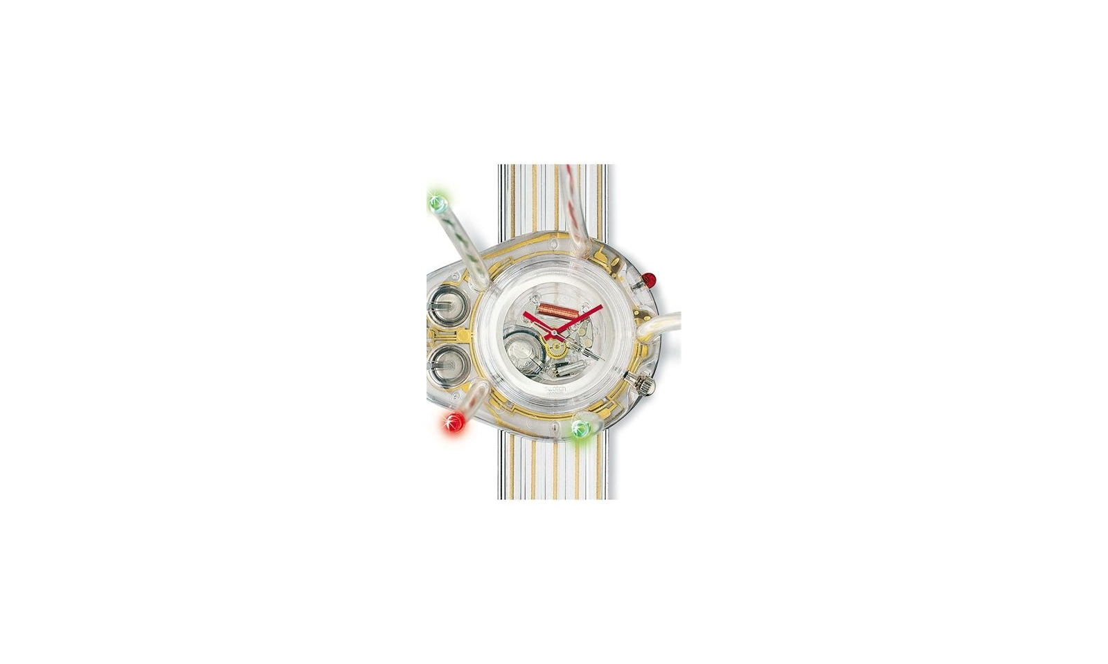 Swatch light tree gz152 swatch by jelly fish for Tap tap fish light jellyfish